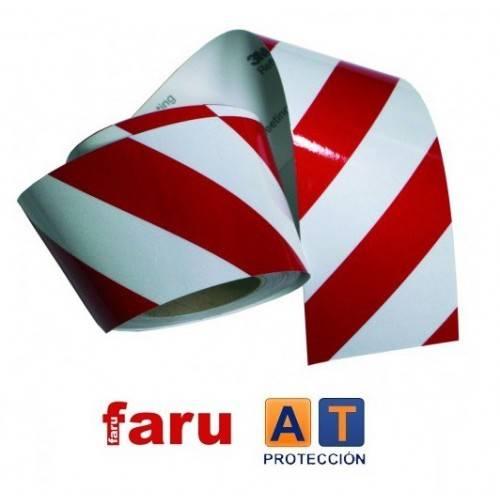Rollo cinta retrorreflectante 3M blanco/rojo