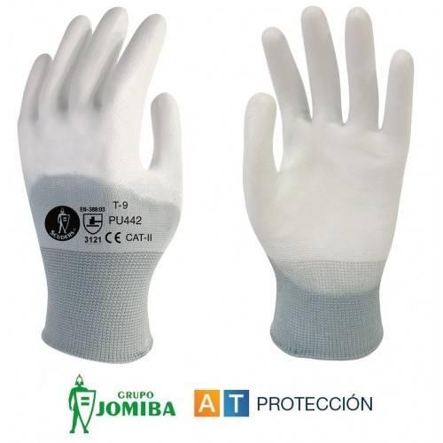 Guantes de poliuretano blanco