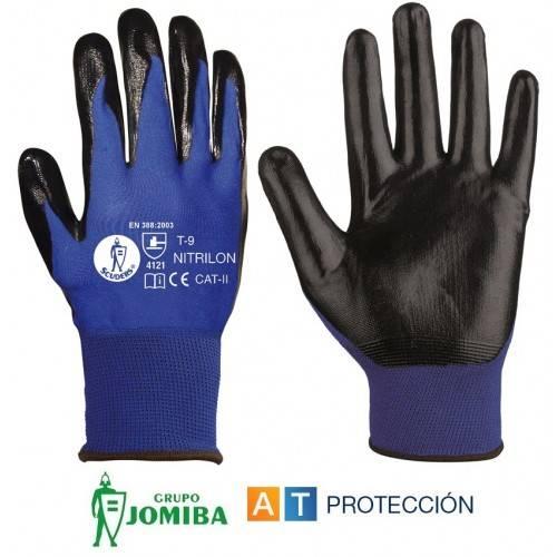 Guantes nitrilo azul-negro