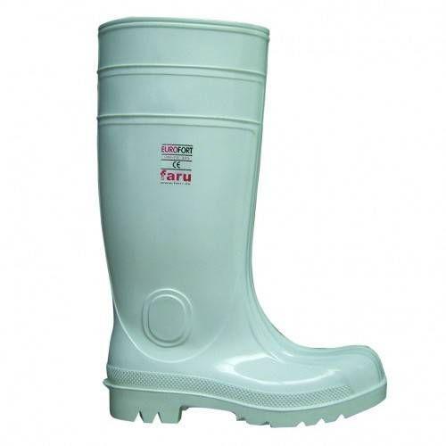 Botas de agua blancas con proteción