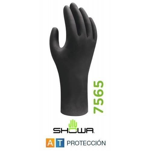 Caja 50 guantes nitrilo Showa 7565 antiestático