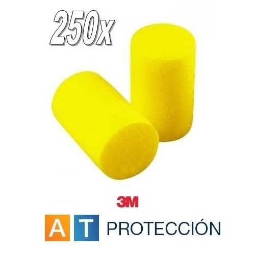 Pack 250 pares tapones 3M EAR CLASSIC