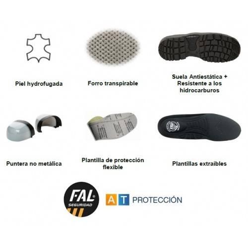 Botas FAL SEGURA S3 ESD Metal Free Velcro