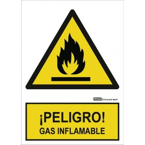 PELIGRO GAS INFLAMABLE A4 Y A3