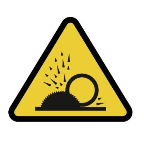 Señal riesgo Proyección de partículas adhesivo 9 CM