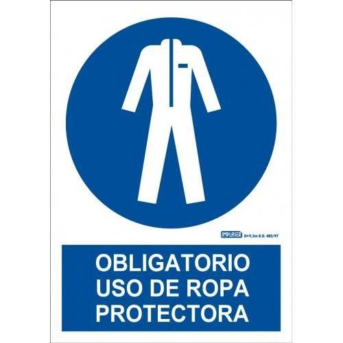 ES OBLIGATORIO UTILIZAR ROPA PROTECTORA A4 Y A3