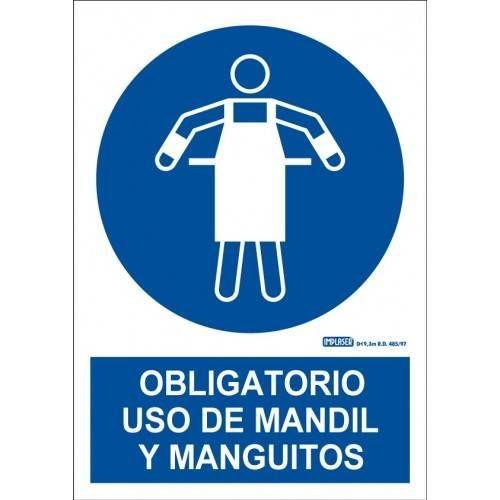 USO OBLIGATORIO DE MANDIL Y MANGUITOS A4 Y A3