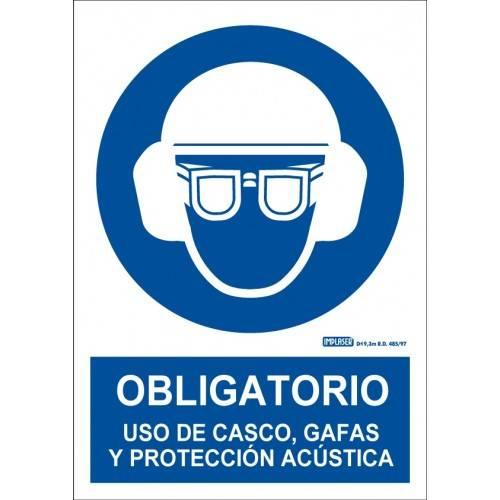 ES OBLIGATORIO EL USO DE CASCO,GAFAS Y PROTECCIÓN ACÚSTICA A4 Y A3