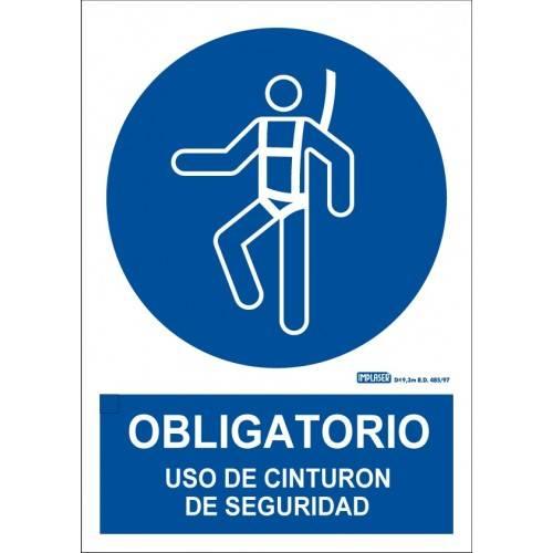 ES OBLIGATORIO EL USO DEL CINTURÓN DE SEGURIDAD A4 Y A3