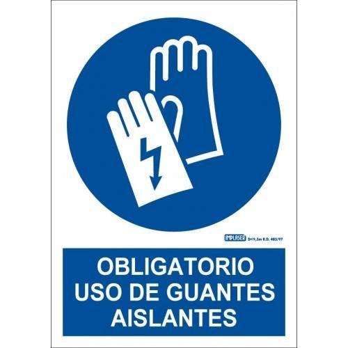 ES OBLIGATORIO EL USO DE LOS GUANTES AISLANTES A4 Y A3