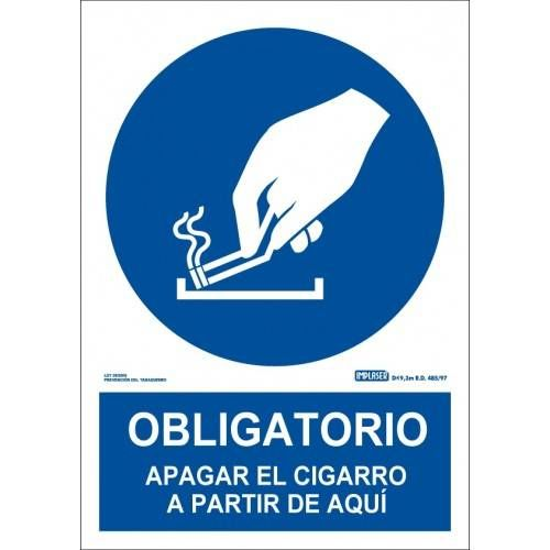 OBLIGATORIO APAGAR EL CIGARRO APARTIR DE AQUI A4 Y A3