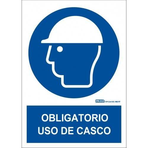 ES OBLIGATORIO EL USO DEL CASCO A4 Y A3