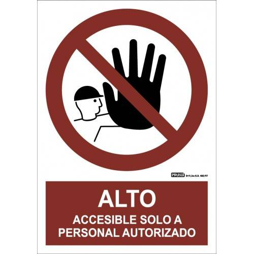 ALTO ACCESIBLE SOLO A PERSONAL AUTORIZADO A4 Y A3