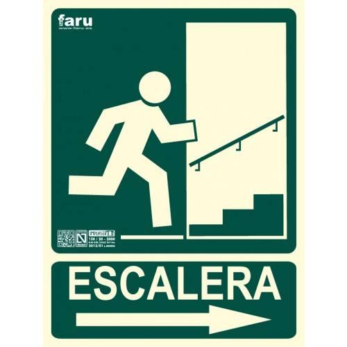 SEÑAL ESCALERA (con flecha hacia derecha subida) A4