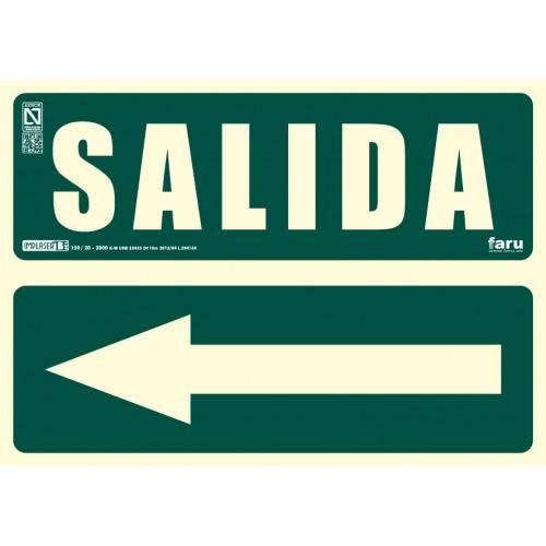 Señal SALIDA Flecha a la izquierda A4 Y A3