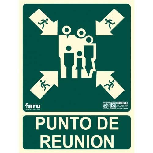 SEÑAL PUNTO DE REUNIÓN 22.4 x 30 cm.