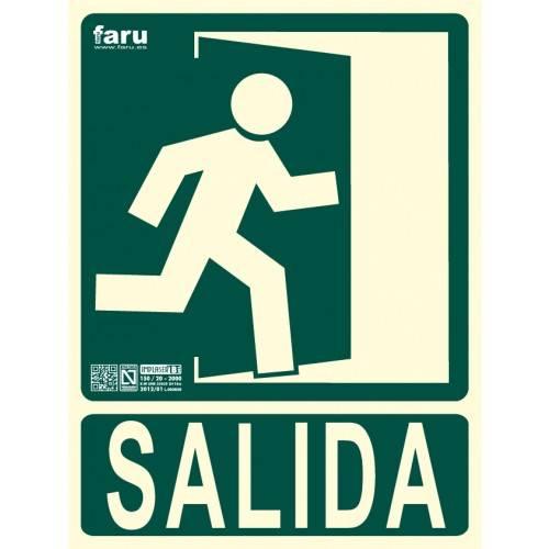 SEÑAL SALIDA HACIA DERECHA (imagen con puerta señalizada) 22.4 x 30 cm.