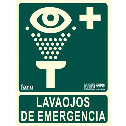 SEÑAL LAVAOJOS DE EMERGENCIA 22.4 x 30 cm