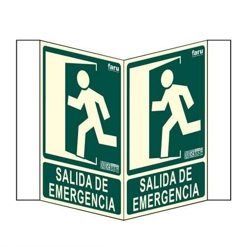 Señal SALIDA DE EMERGENCIA Panorámica A4