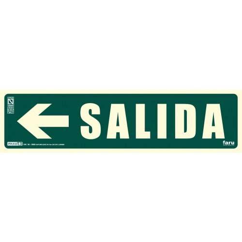 SEÑAL SALIDA FLECHA IZQUIERDA 10.5 x 40.5 cm