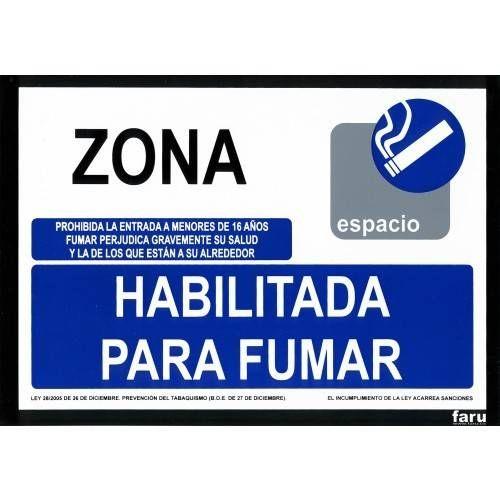 ZONA HABILITADA PARA FUMAR A4