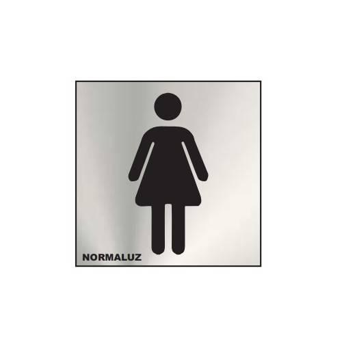Señal informativa ASEOS mujer 12x12
