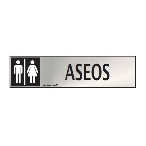 Señal informativa ASEOS hombre-mujer