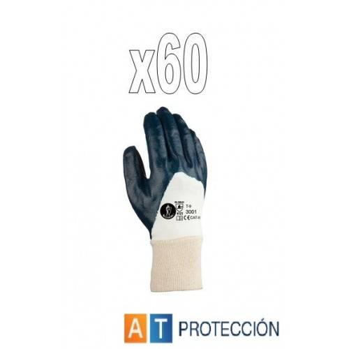 Pack 60 par guantes nitrilo dorso fresco 23001
