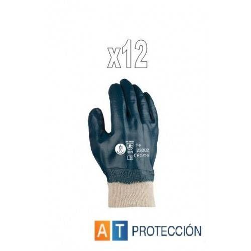 Pack 12 par guantes nitrilo cubierto 23002