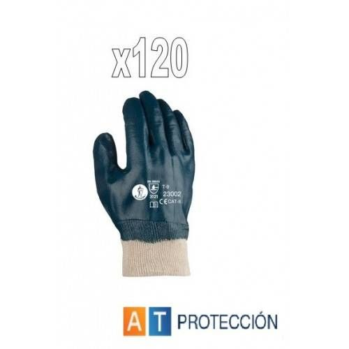 Pack 120 par guantes nitrilo cubierto 23002