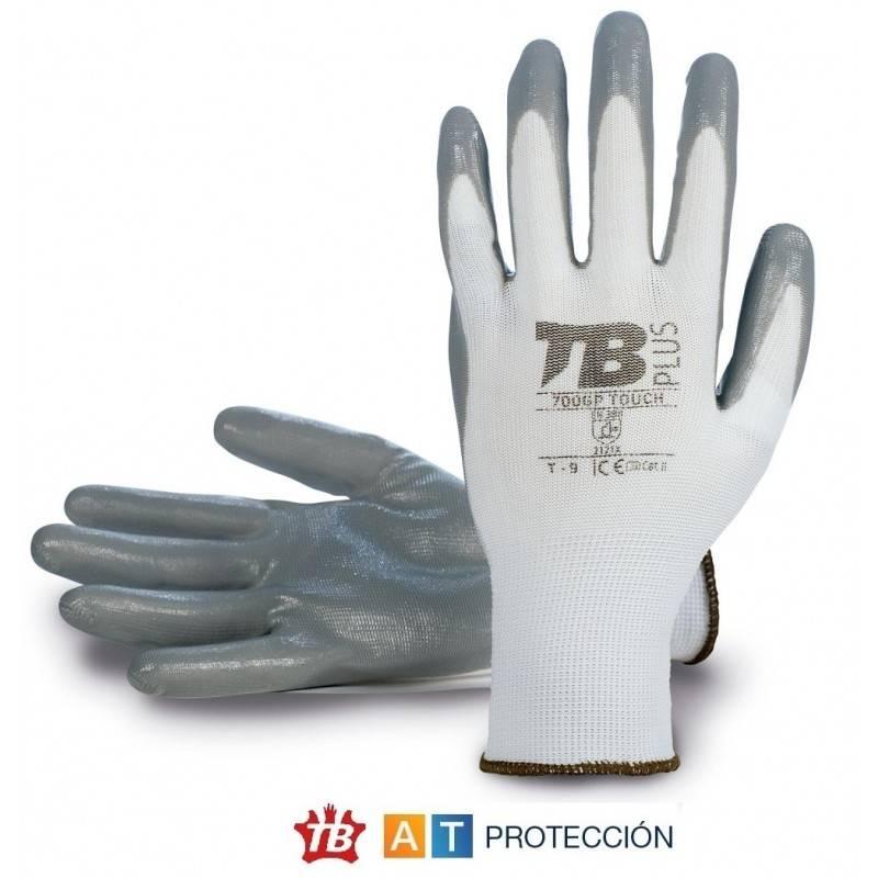 Guantes nitrilo gris dorso fresco Tomas Bodero 700GP Touch