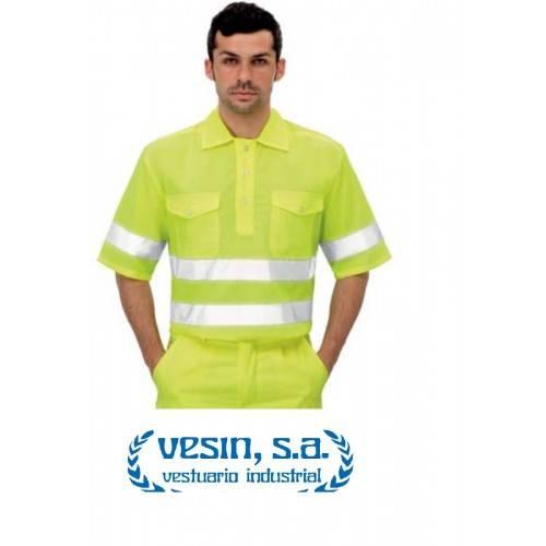 camisa manga corta de alta visibilidad