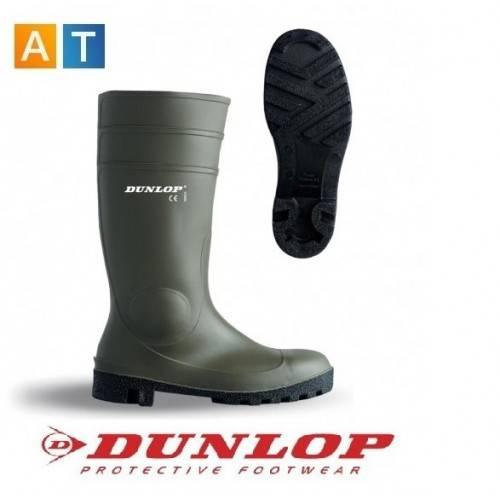 Botas de agua Dunlop verdes con protección