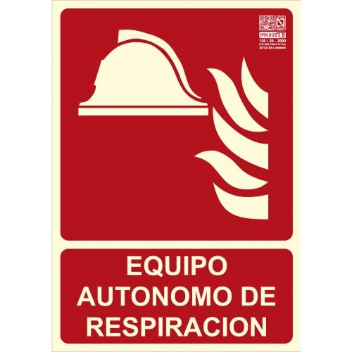 SEÑAL EQUIPO AUTÓNOMO DE RESPIRACIÓN A4