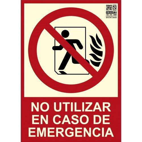 SEÑAL NO UTILIZAR EN CASO DE EMERGÉNCIA A4