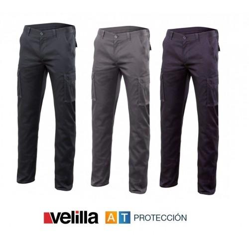 Pantalón multibolsillos forrado Stretch Velilla