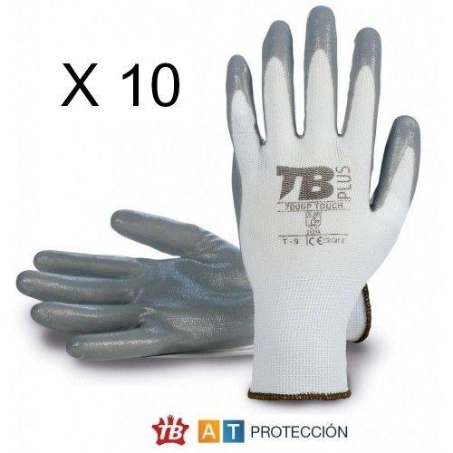 Pack 10 pares guantes nitrilo 700GPTOUCH