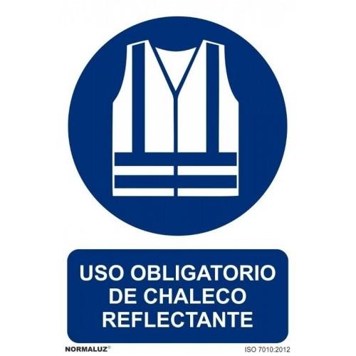 Señal obligatorio uso chaleco alta visibilidad