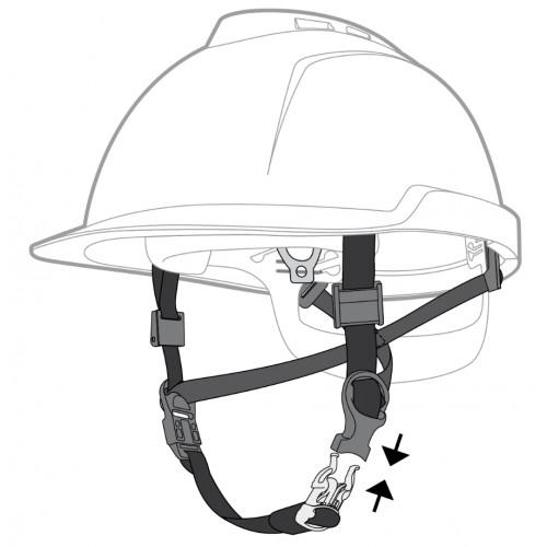 Barbuquejo de cinta 4 puntos de anclaje para casco MSA
