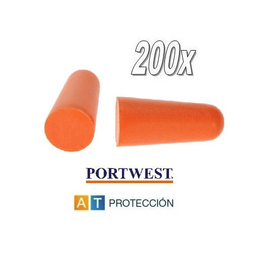 Pack 200 pares tapones Portwest EP02