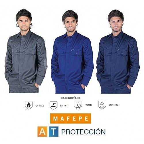 Camisa ignífuga, antiestática y contra arco eléctrico MAFEPE