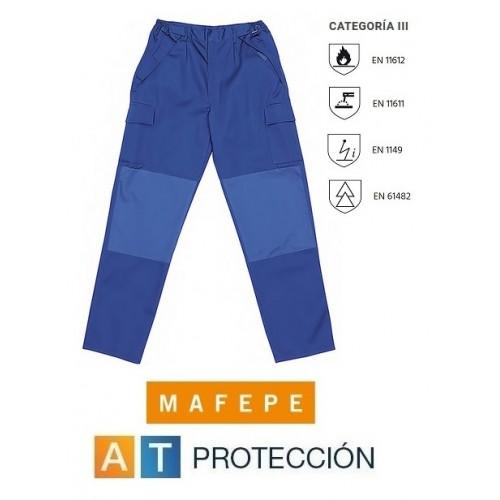 PANTALON IGNIFUGO - ANTIESTATICO - CONTRA ARCO ELECTRICO 100% algodón