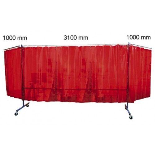 Biombo protección con brazos/cortinas TRANSFLEX 3100