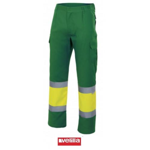 Pantalón alta visibilidad Velilla 157 gris-amarillo OUTLET