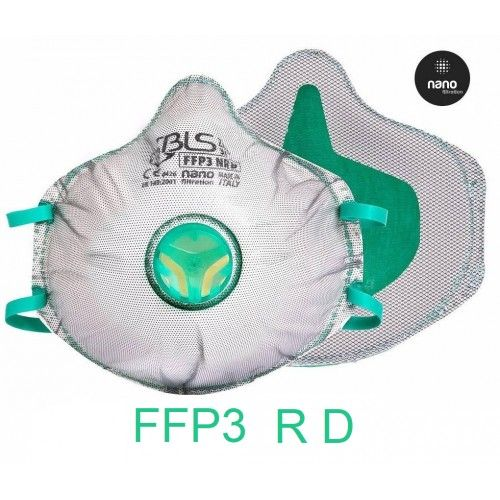 Pack 10 mascarillas BLS ZerO 31 FFP3 R D Carbon activo