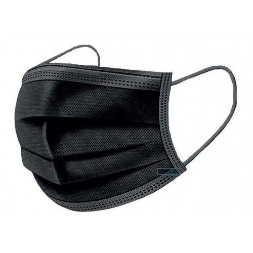 Pack 50 mascarillas quirúrgicas triple capa Negras