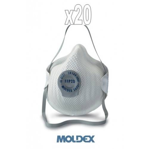 Pack 20 mascarilla antivirus Moldex FFP2 con válvula