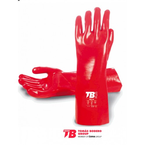 Guantes PVC Rojos 40 cm Tomas Bodero
