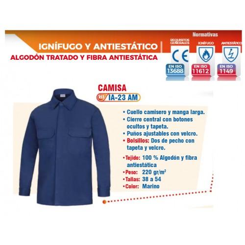 CAMISA IGNIFUGA - ANTIESTATICA - CONTRA ARCO ELECTRICO