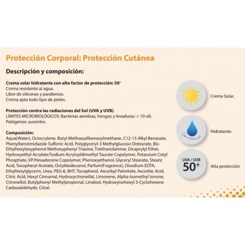Crema Solar hidratante con factor de protección 50+
